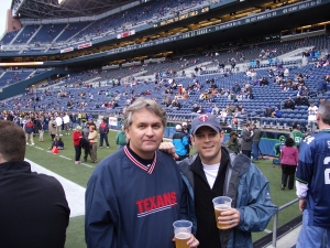 With Uncle Alan Burge at Texans/Seahawks game in 2005